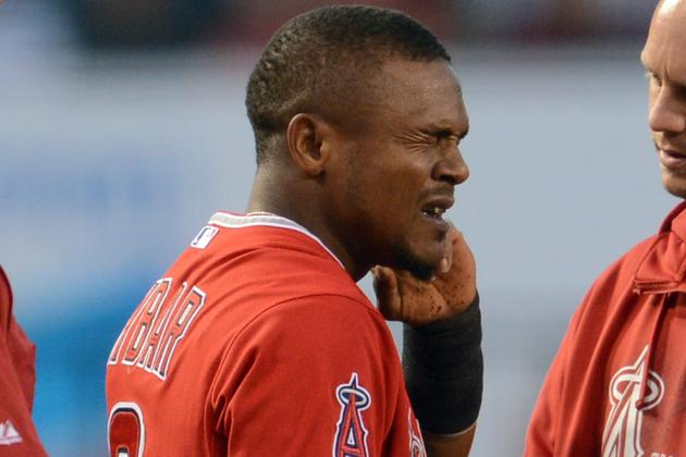 Aybar Exits Against Yanks with Left Calf Cramp