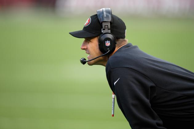 49ers Camp Report: Harbaugh Dives into Pile to Break Up Scuffle