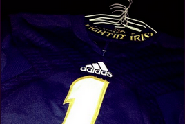 "Photo: Notre Dame's 2013 Adidas Jerseys Feature ""Fightin' Irish"""