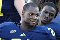 Michigan's Fitz Toussaint Moves on to Contact Drills