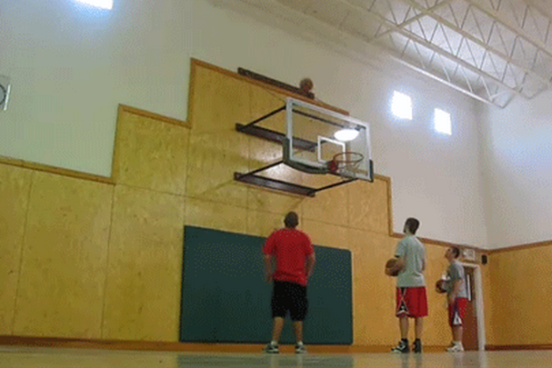 Basketball Takes 7 Bounces Before Going In, Freaks out Shooters