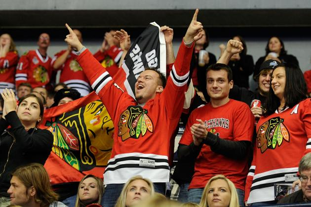 Watch: Preds Try to Keep Hawks' Fans out