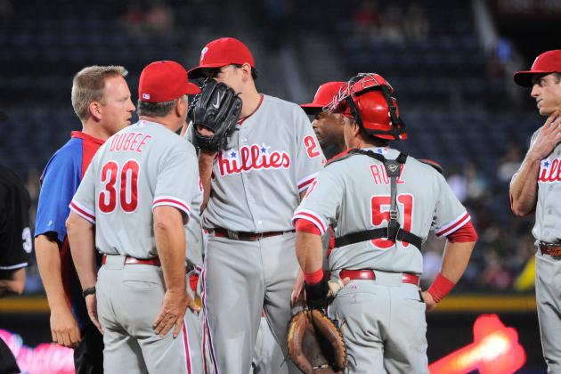 Phillies Notes: Lannan Leaves in Second Inning with Knee Injury