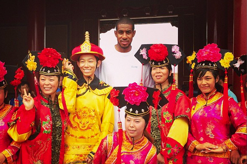 Instagram: Aldridge Hangs out at Forbidden City