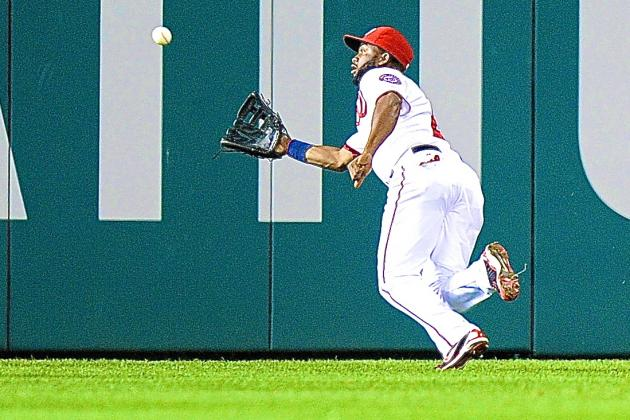 Denard Span Video: Watch Nationals Outfielder End Game with Amazing Diving Catch