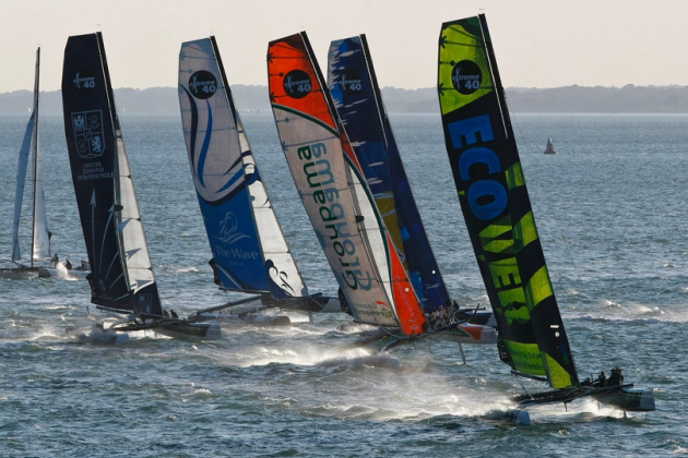 Full Starting Grid for Extreme Sailing Series™ Cardiff Presented by Land Rover