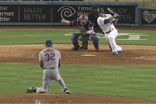 LaTroy Hawkins Took a Direct Hit to the Groin Against the Dodgers