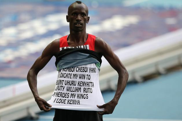 Kenya's Kemboi Lands World Steeplechase Hat-Trick