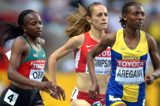USA's Jenny Simpson Takes Silver in 1,500; Cain 10th