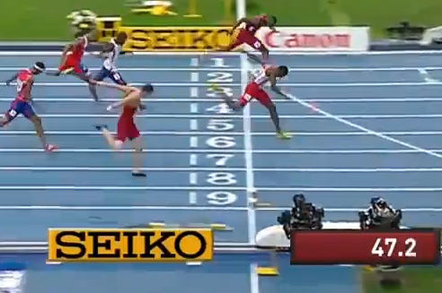 Photo Finish! Gordon Nips Tinsley in the 400mH