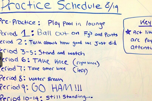 "Photo: Kentucky's Specialists' Practice Schedule Includes Going ""HAM"""