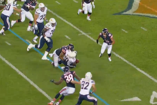 Bostic's Hit Forces Incompletion