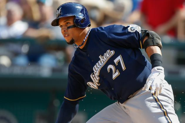 Carlos Gomez Exits Game with Right Knee Sprain