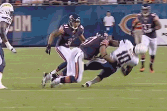 Watch Chicago Bears Rookie LB Jon Bostic's Monster Hit (GIF)