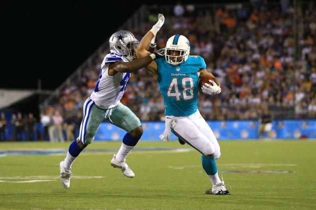 Miami Dolphins' Evan Rodriguez Takes First-Team Snaps