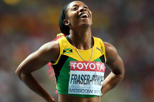 Fraser-Pryce Wins Women's 200 Meters at Worlds