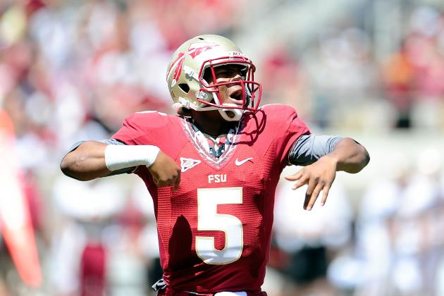 Florida State's Jameis Winston Battling for QB Job as Hype Grows