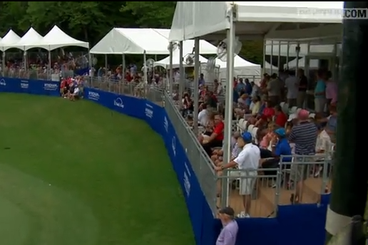 Video: Spieth Hits Ball off Tent, Birdies Anyway