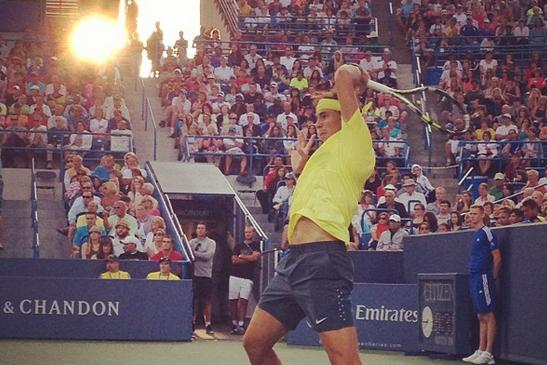 Instagram: Nadal Battles Federer