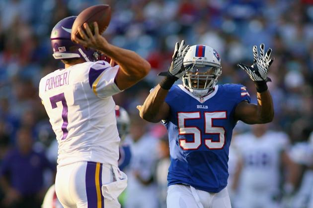 Hughes Helps Bills' Defense Set Tone in a Big Way