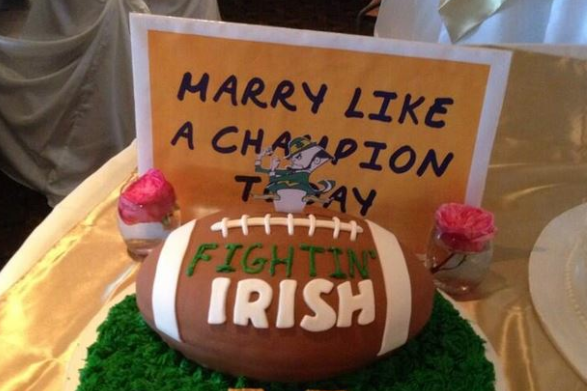 Photo: ND Fans Have Irish-Themed Wedding Cake