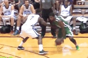 Kyrie Breaks Ankles with Crossover