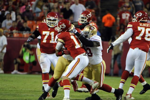 Kansas City Chiefs OL Struggles Against San Francisco 49ers Friday Night