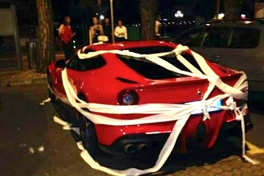 Mario Balotelli's Ferrari Is Toilet-Papered After He Refuses to Sign Autographs