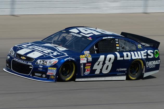 Jimmie Johnson Wins Michigan Happy Hour, Crashes Primary Car