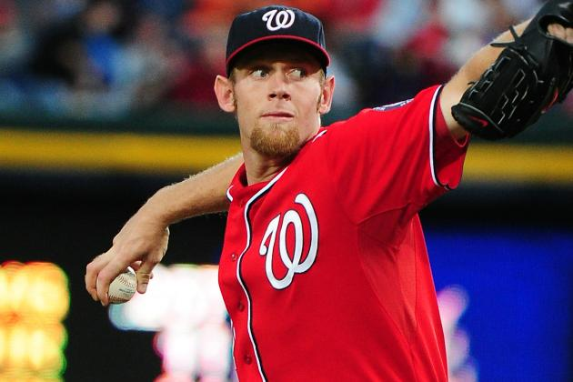 Stephen Strasburg Hits Justin Upton a Day After Bryce Harper Is Hit Twice
