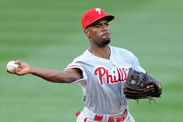 Jimmy Rollins out of Lineup Today vs. Dodgers; Chase Utley Returns