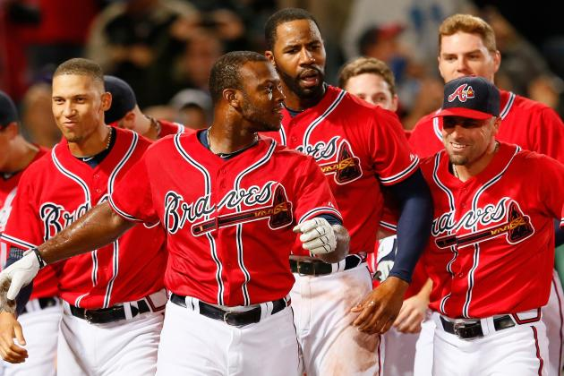 Justin Upton, Jason Heyward and Brian McCann All out Today vs. WSH