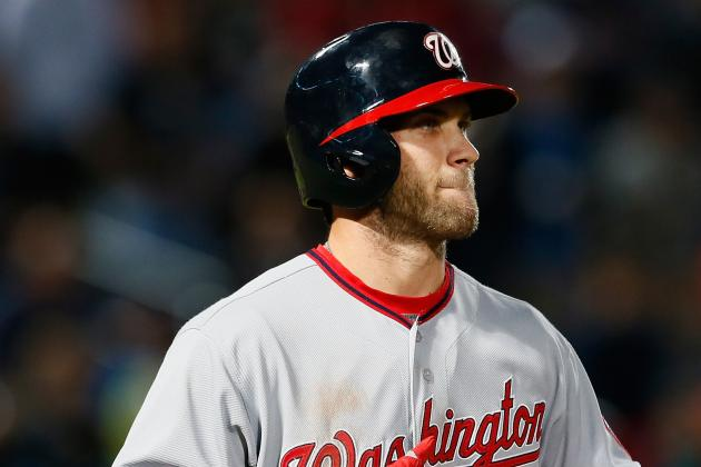 Bryce Harper Returns to Lineup Today vs. Braves; Ryan Zimmerman out