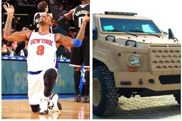 J.R. Smith Reportedly Driving Around New York in a $450,000 Armored Vehicle