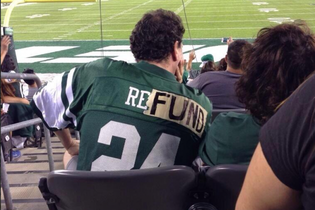 Jets Fans Make Alterations to Their Jerseys