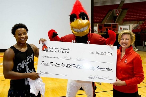 Ball State Freshman Hits Half-Court Shot to Win Free Tuition for a Semester