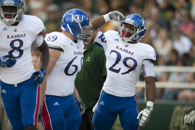 Kansas Names RB James Sims, QB Jake Heaps Captains
