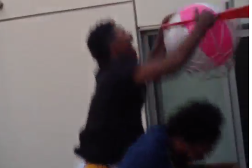 Nick Young Posterizes Friend with Beach Ball Dunk