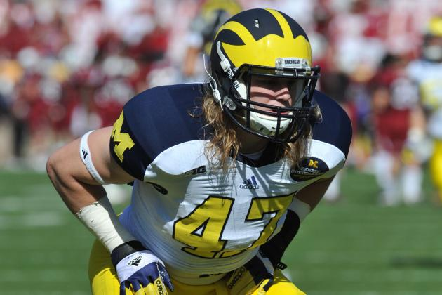 Michigan Coach, on LB Jake Ryan: 'To Me, It's Like He's Not Even Injured'