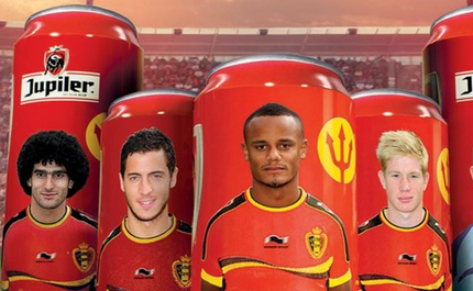 Belgian Beers Feature Footballer's Faces