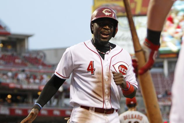 Brandon Phillips, Erick Aybar Turn Hit by Pitches into Strikeouts