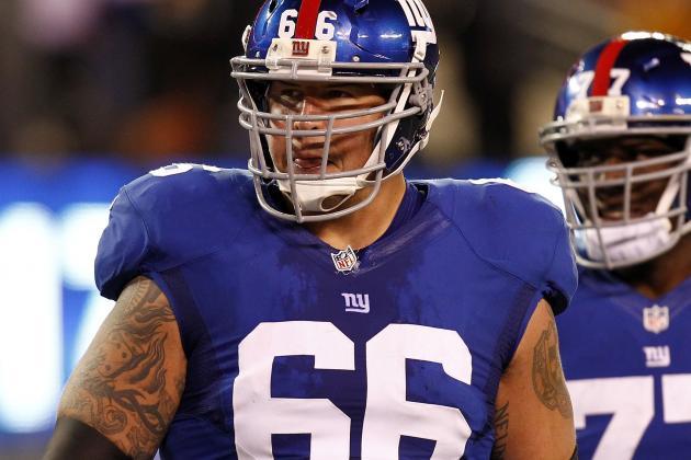 Baas Injury Has Giants Shuffling the Line