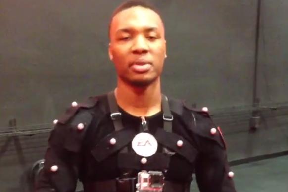 Damian Lillard Wears Motion-Capture Suit for EA Sports NBA Live 14
