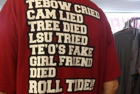 This Alabama Football T-Shirt Gives No Mercy to Crimson Tide Opponents