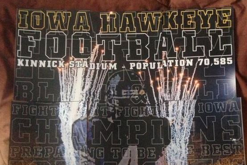 Photo: Iowa Sends Jameer Outsey 9-Piece Puzzle Showing Him