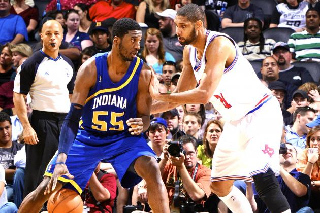 Roy Hibbert Works out with Tim Duncan, Says Pro-Am Games Filled with 'Scrubs'