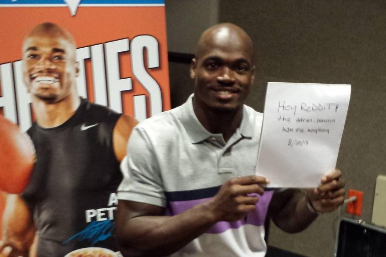 Some Random Things We Learned from Adrian Peterson's Reddit AMA