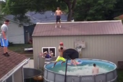 Best Pool Dunk Ever?