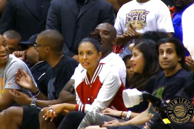 Kobe Bryant Enjoys Watching Dorell Wright Get Dunked on at the Drew League