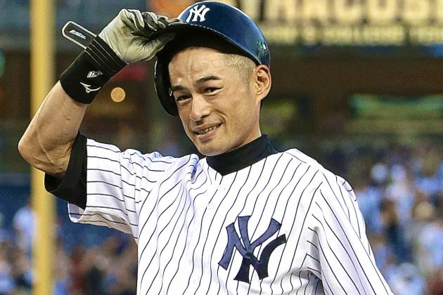 Yankees' Ichiro Suzuki Records 4,000th Hit in Pro Career